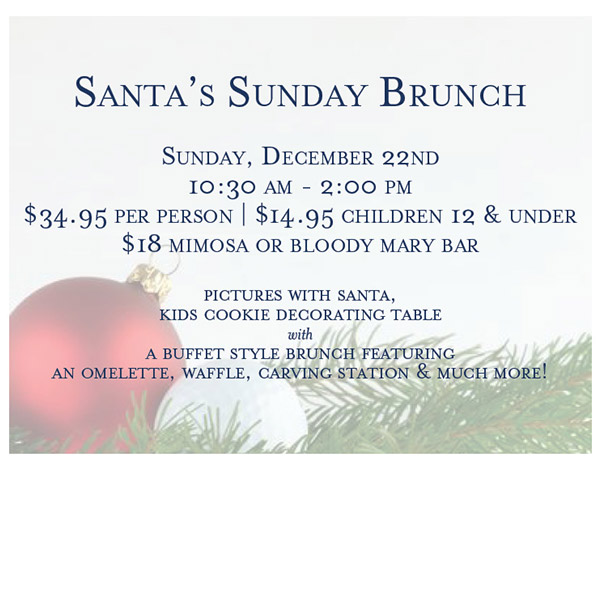 Santa's Sunday Brunch - December 22nd
