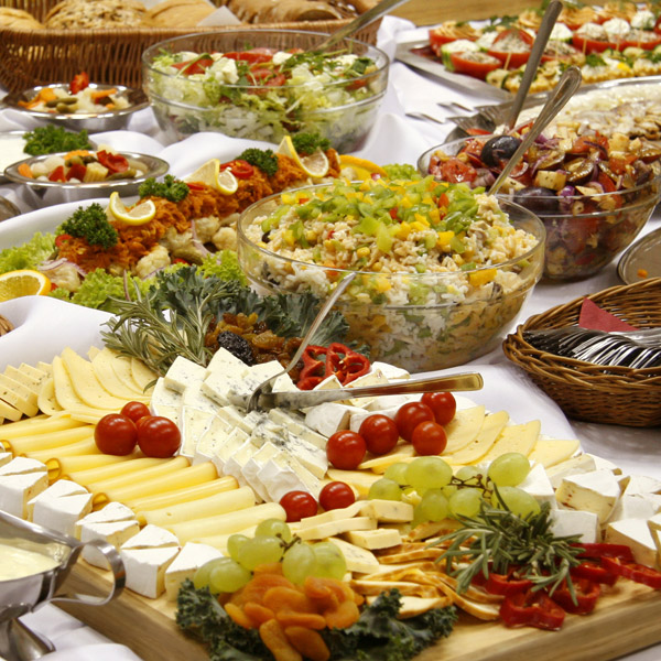 Catering photo showing food at private event